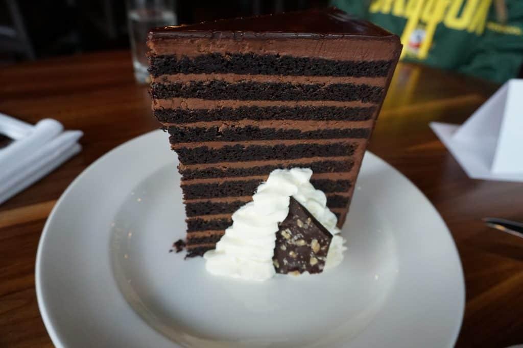 23 Layered Chocolate Cake Michael Jordan's Steakhouse