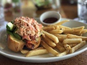 Lobster roll at Disney Aulani