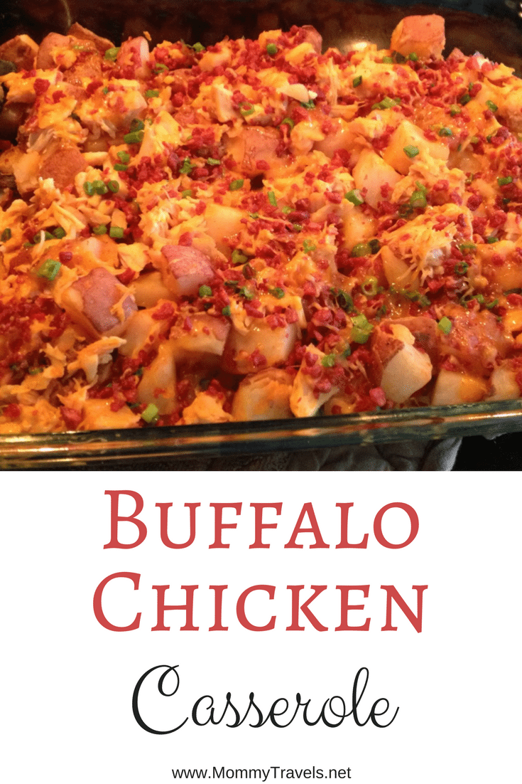 Buffalo Chicken Casserole has just the right amount of spice and it's easy to make.