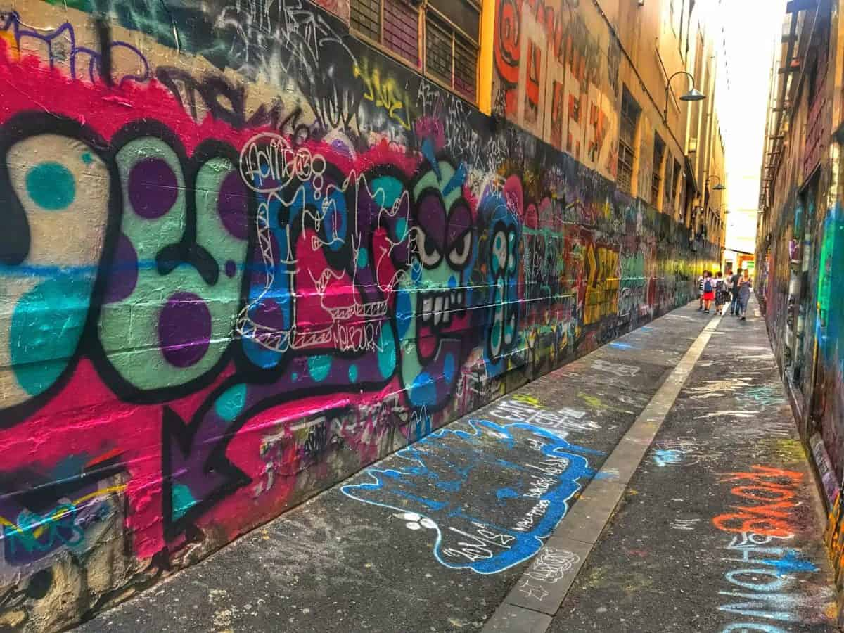 Graffiti alleys in Melbourne