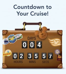 Find out why you will need the Disney Cruise app while you are cruising with Disney. And find out how to get this awesome Disney Cruise Countdown graphic!