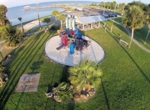 The playground at Frank Pate Park