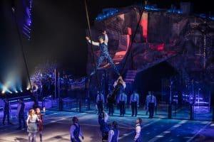 Acrobats at Cirque du Soleil's Crystal