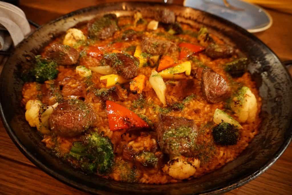 Filet Mignon Paella at Can Font