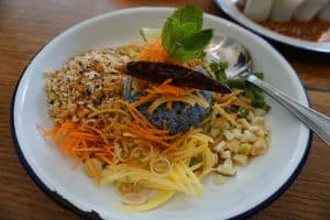 """Farmhouse Kitchen Herbal Rice Salad curry A traditional dish known as """"Khao Yum"""" (Bangkok Style)"""