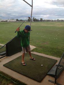 Driving range - hitting golf balls