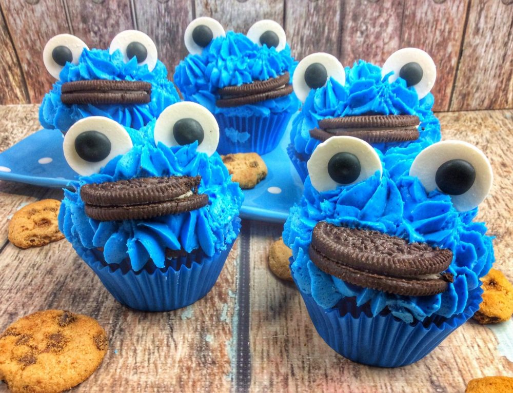 Cookie Monster Brownies, Fudge, and Cupcakes