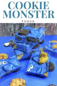 Cookie Monster Fudge recipe and step by step instructions