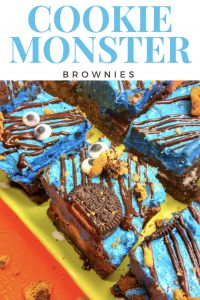 Cookie Monster Brownies recipes and step by step instructions