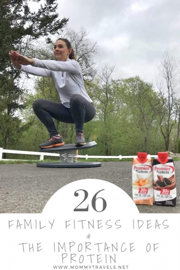 26 Family Fitness Ideas for staying fit as a family and why it's important a family includes protein in their diet.