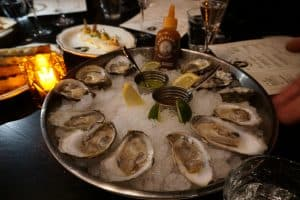 Oysters at Jackrabbit restaurant in Portland
