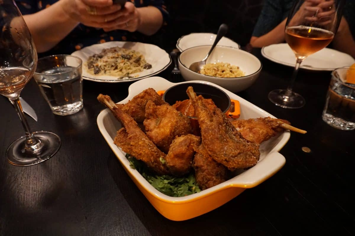 Fried duck at Jackrabbit restaurant in Portland