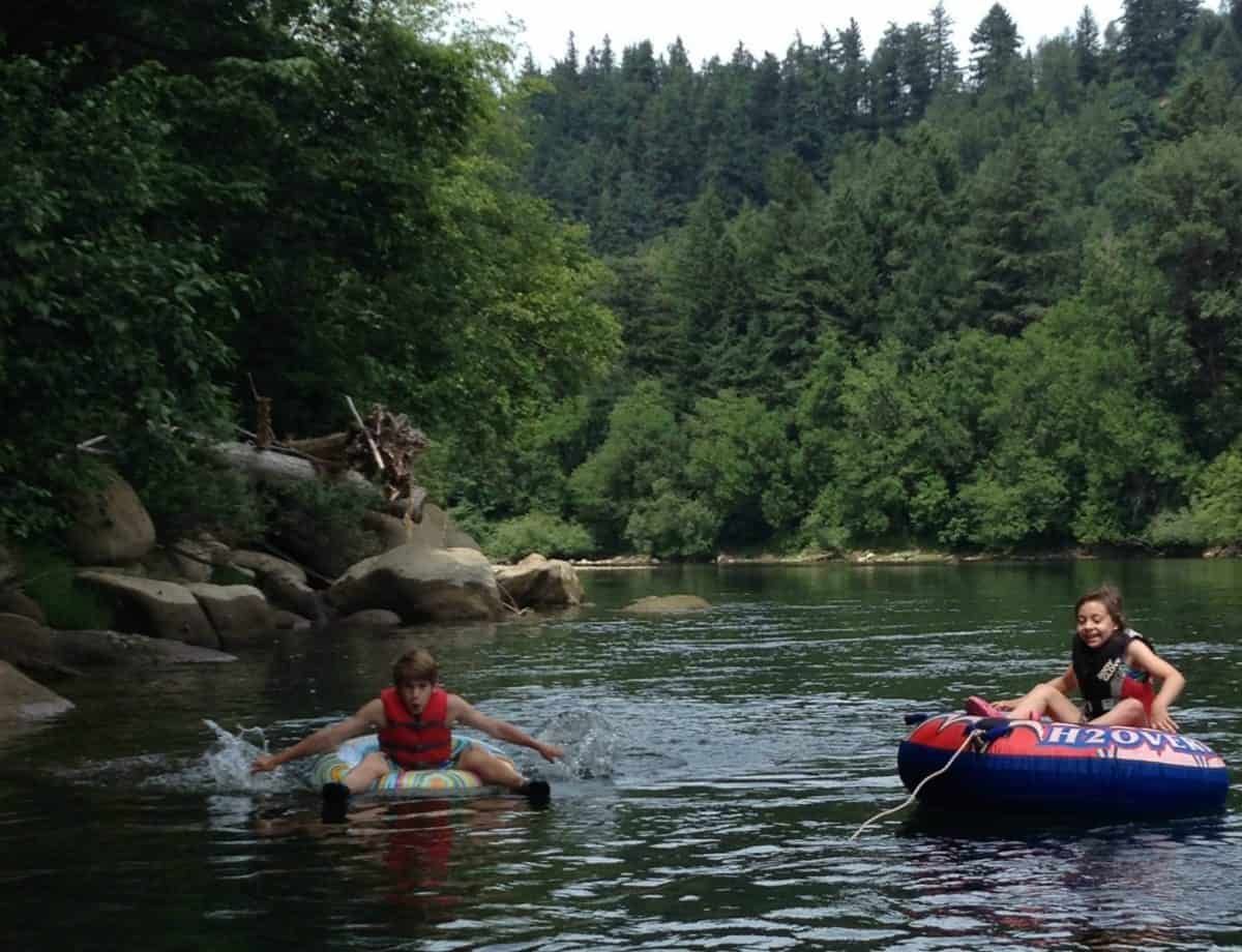 How to Float the river with kids
