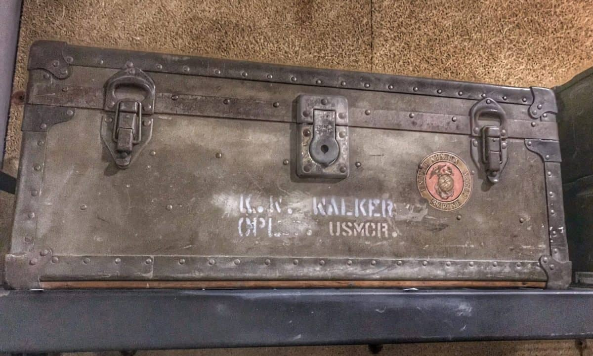 Paul Walker's Marine travel box