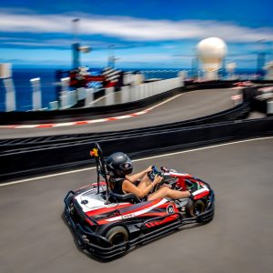 go karting on the Norwegian Bliss
