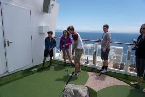 Mini golf on the Norwegian Bliss