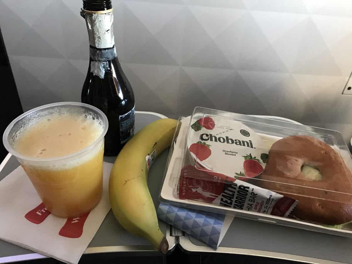 Delta overseas flight breakfast