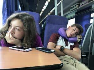 taking the train in Greece