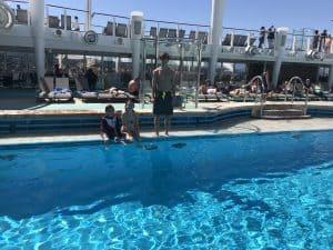 Two pools on the Norwegian Bliss