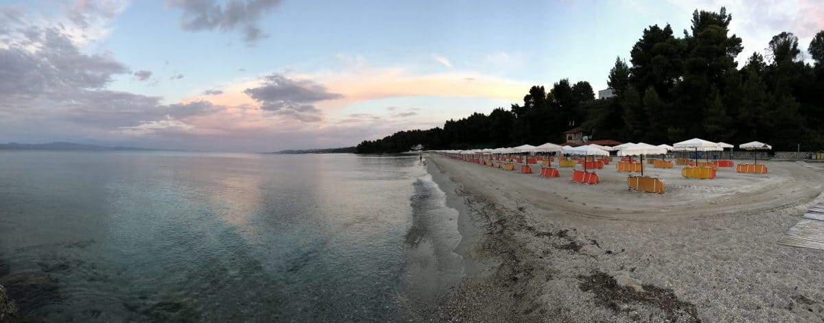 Sunset at Alexander the Great Beach Hotel