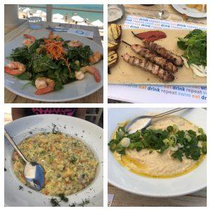 Greek food at Agora Beach Bar