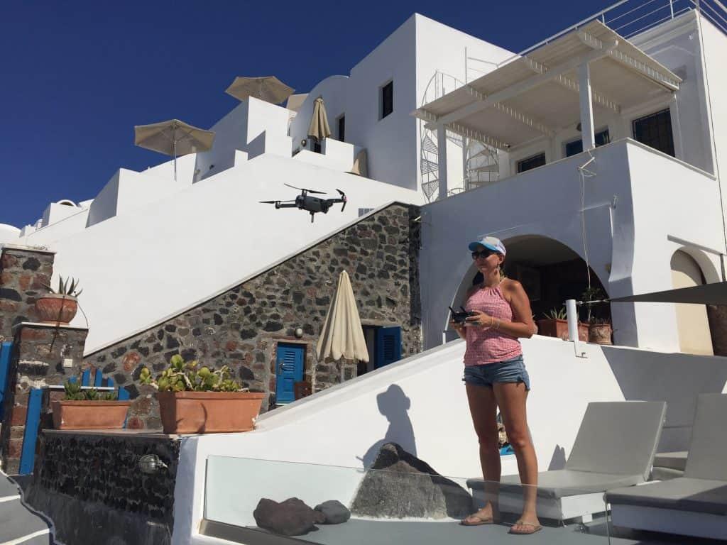 Flying the DJI Mavic Pro in Santorini Greece