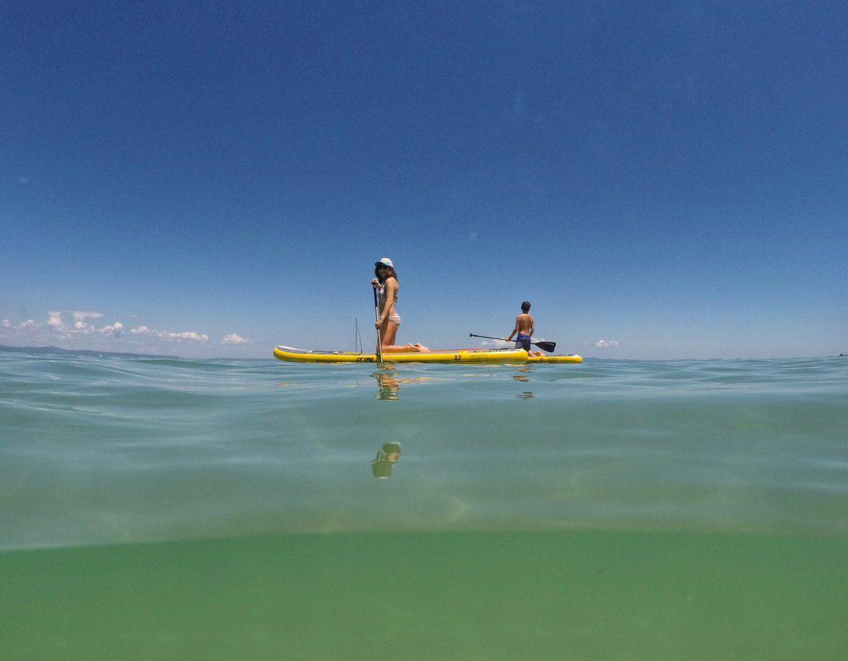 Paddleboarding at Alexander the Great Beach Hotel