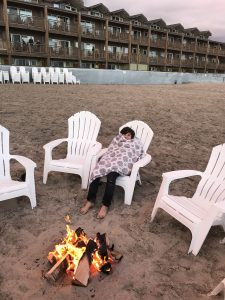 Nightly fire on the beach with s'mores at Surfsand Resort