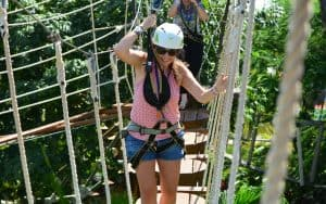 Ropes course at Ventura Park in Cancun, Mexico