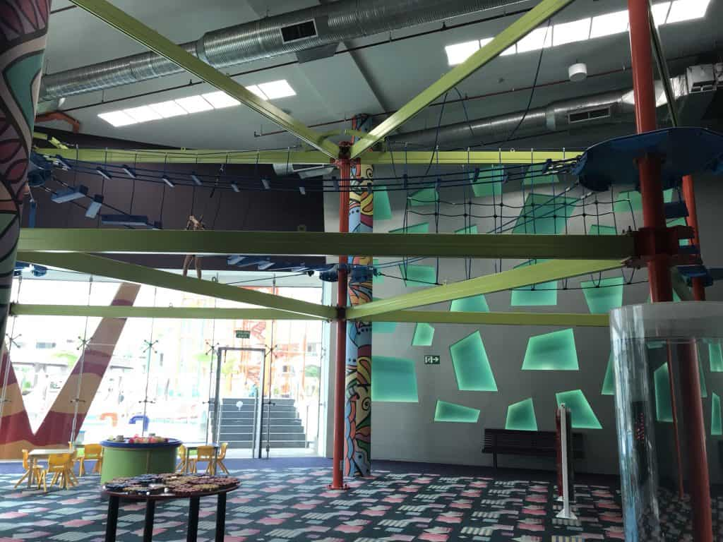 Indoor ropes course at The Grand at Moon Palace