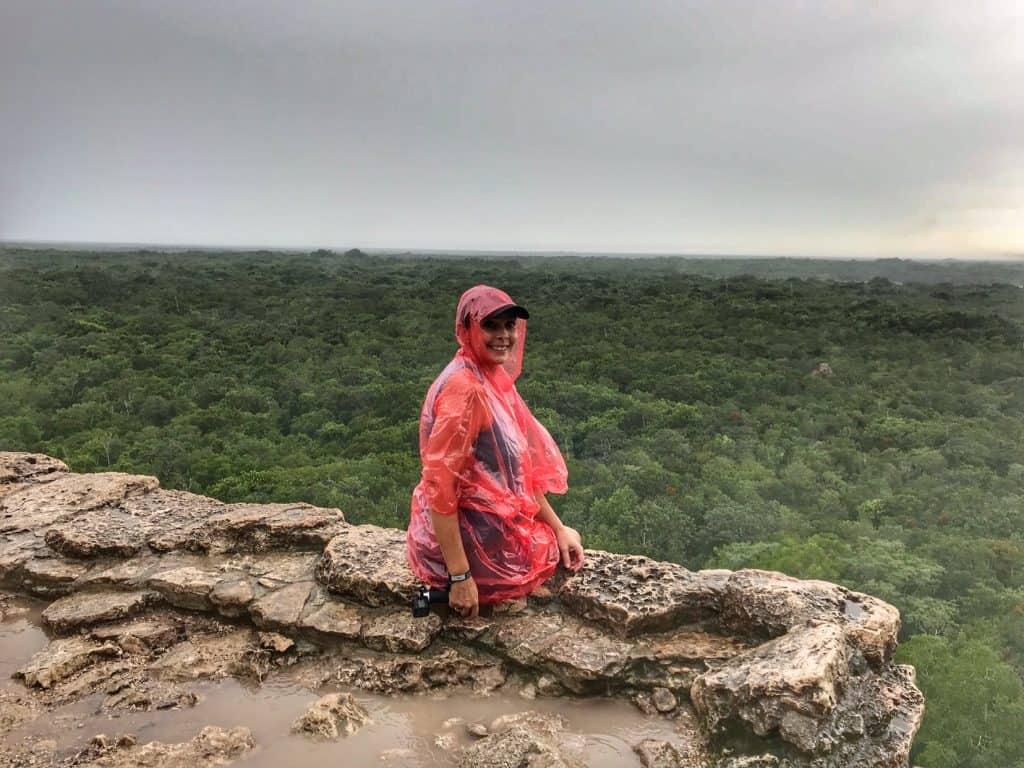 Climb to the top of a temple at Coba Mayan Ruins