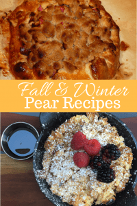 3 Fall and Winter Pear Recipes