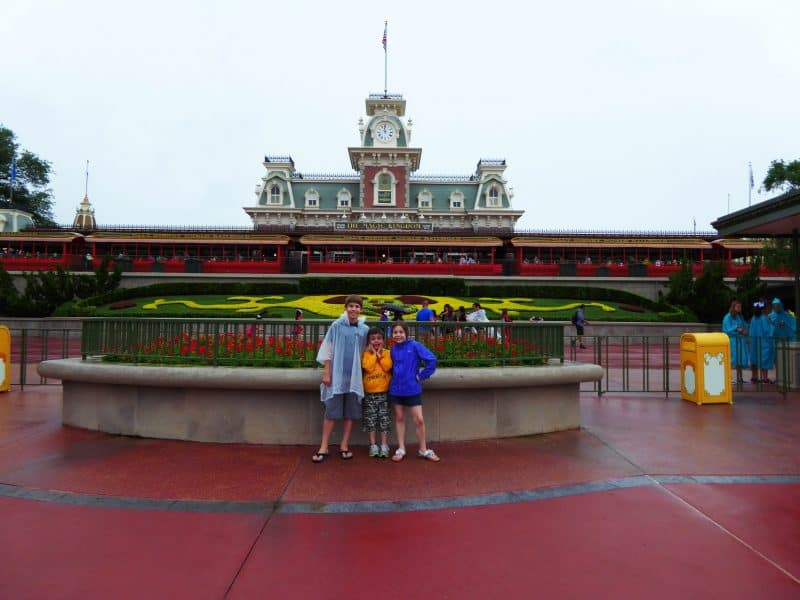 Disney World on a Rainy Day