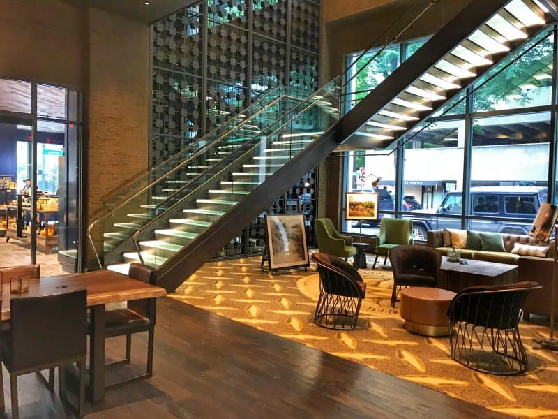 The Porter hotel lobby