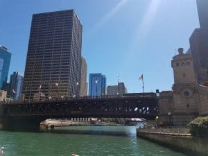 Views from the water taxi in Chicago