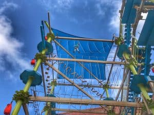Ropes course at Great Wolf Lodge Grand Mound