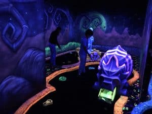 Glow golf at Great Wolf Lodge