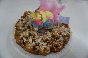 Fairy funnel cake at Sweet Street Desserts