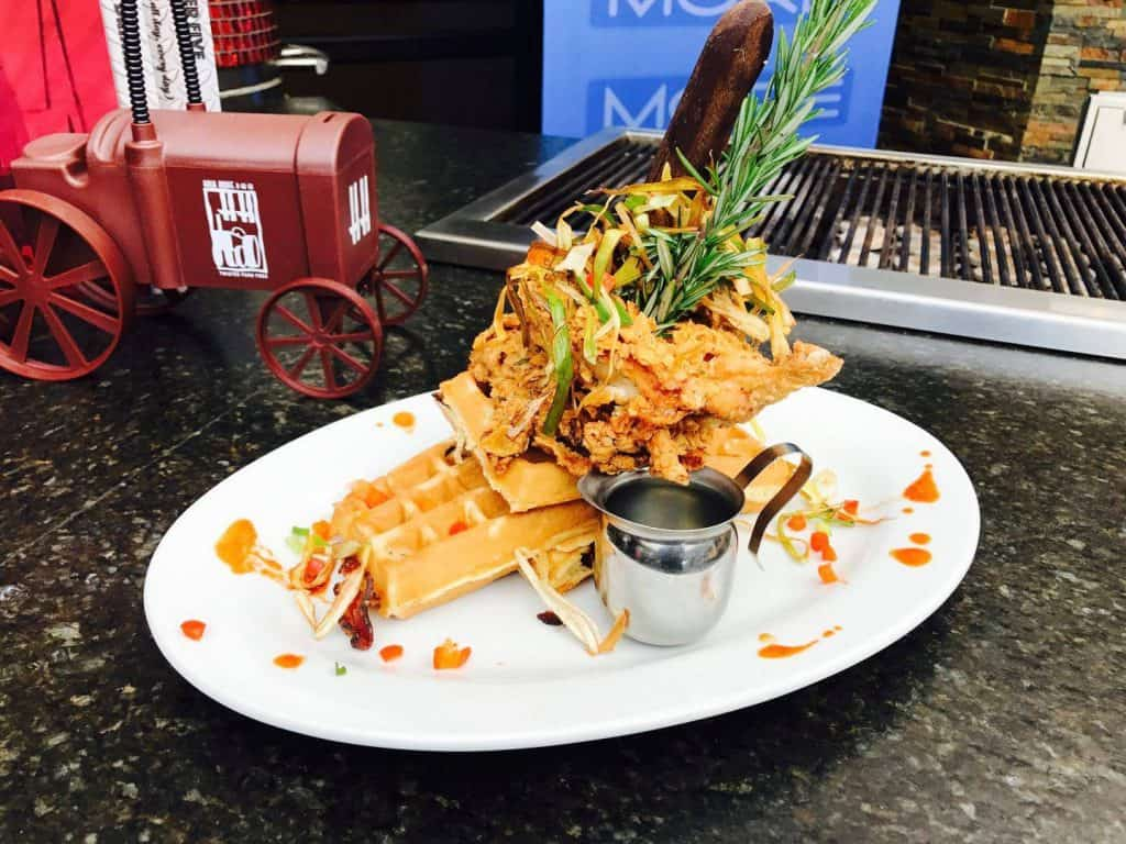 Chicken and Waffles Hash House a Go Go