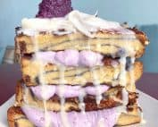 UBE french toast at Truffles N Bacon Cafe