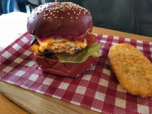 Breakfast burger at EightOneAte