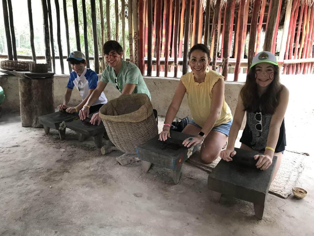 Learning about Mayans at Pueblo Del Maiz