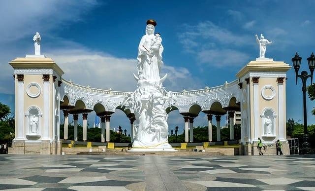 Monument to the virgin in Venezuela