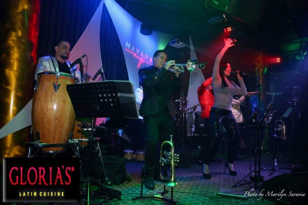 Salsa dancing at Gloria's