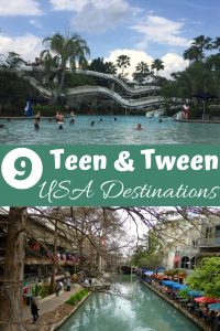 Top-9 destinations for teens and tweens in the United States