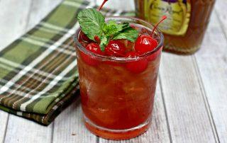 Cherry bourbon cocktail