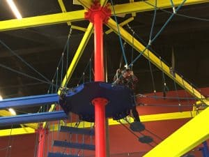 The ropes course at Cinergy Midland
