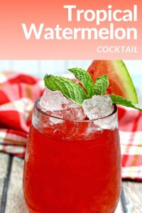 Tropical Watermelon Cocktail