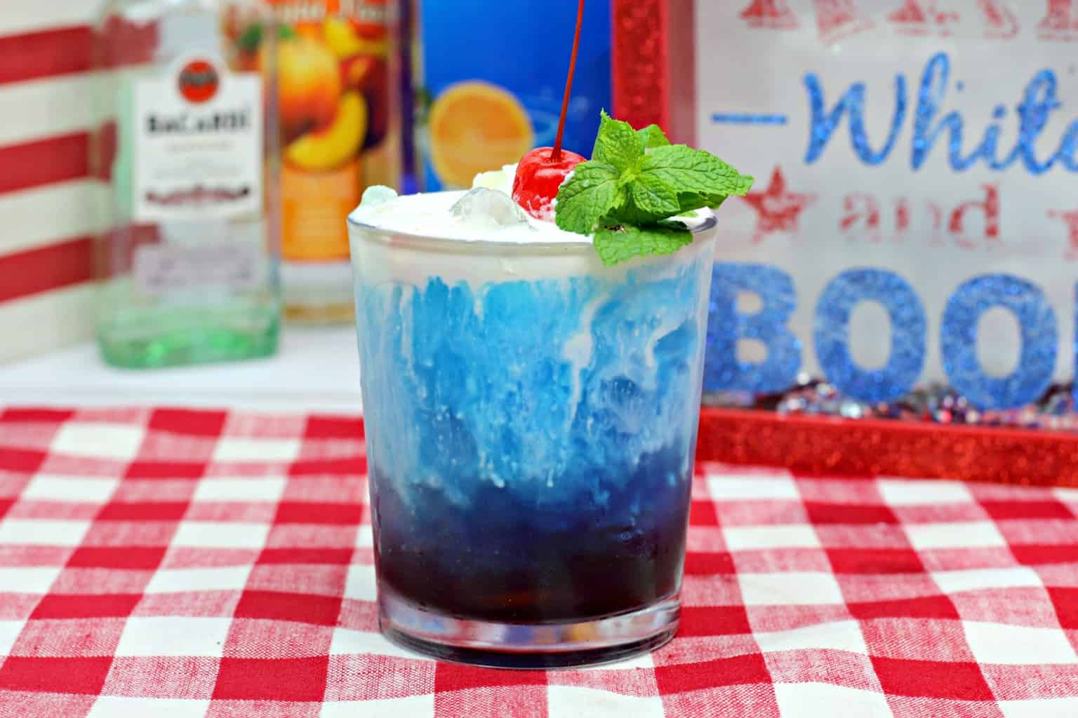 American 4th of July cocktail
