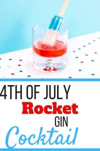 Rocket Gin, a 4th of July Cocktail